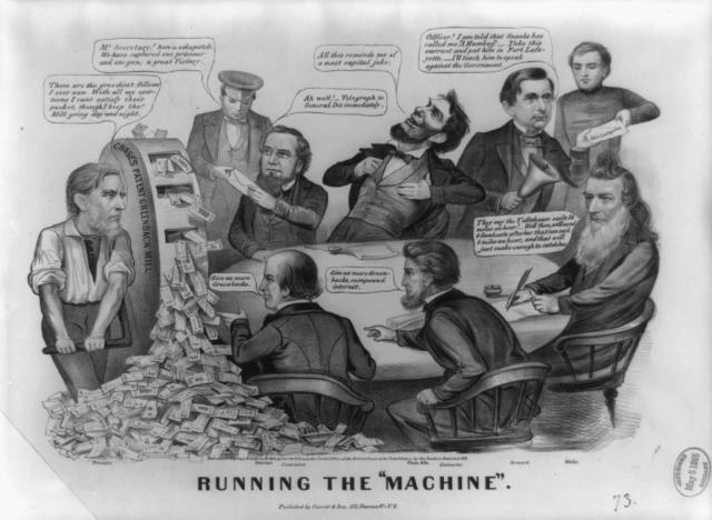 """Running the """"Machine,"""" circa 1864"""